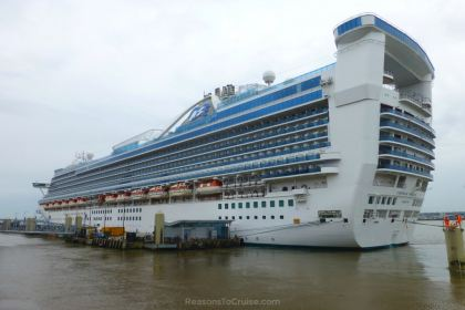 Rear of Caribbean Princess