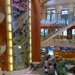 The atrium on Caribbean Princess