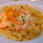 Fettuccine with Whisky and Orange Cured Salmon