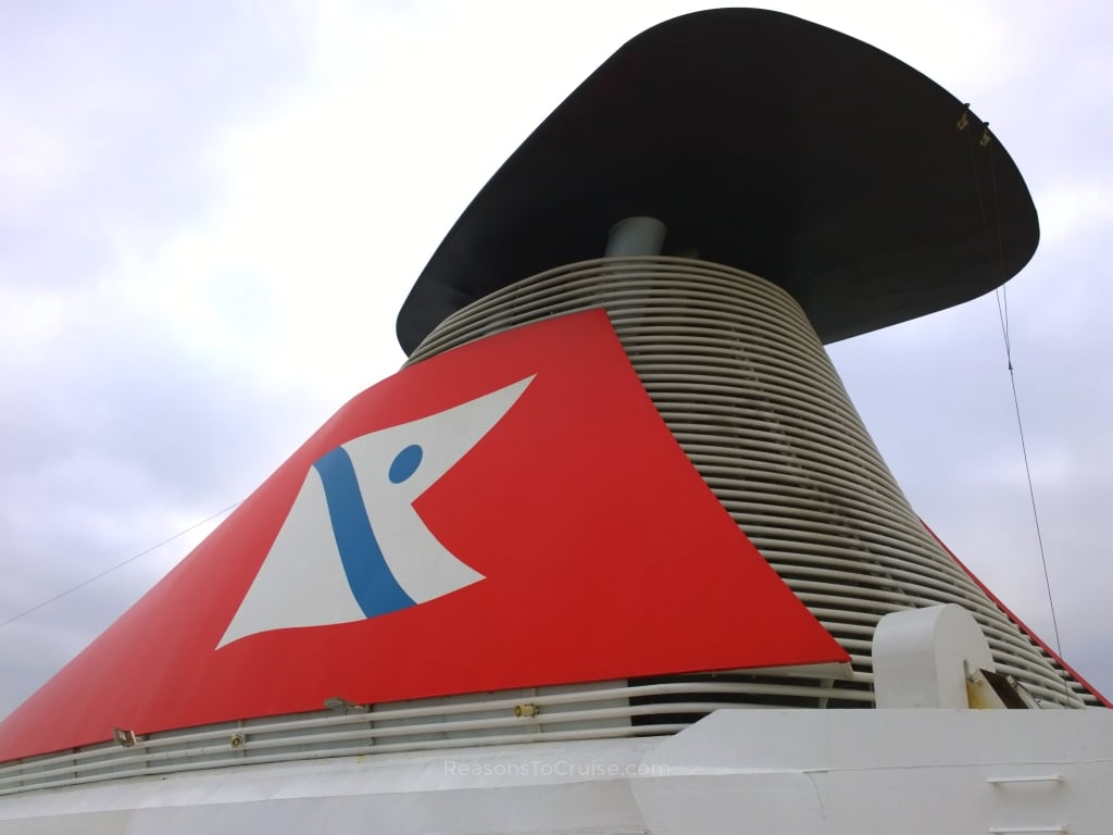 Fred. Olsen Logo on Balmoral's Funnel