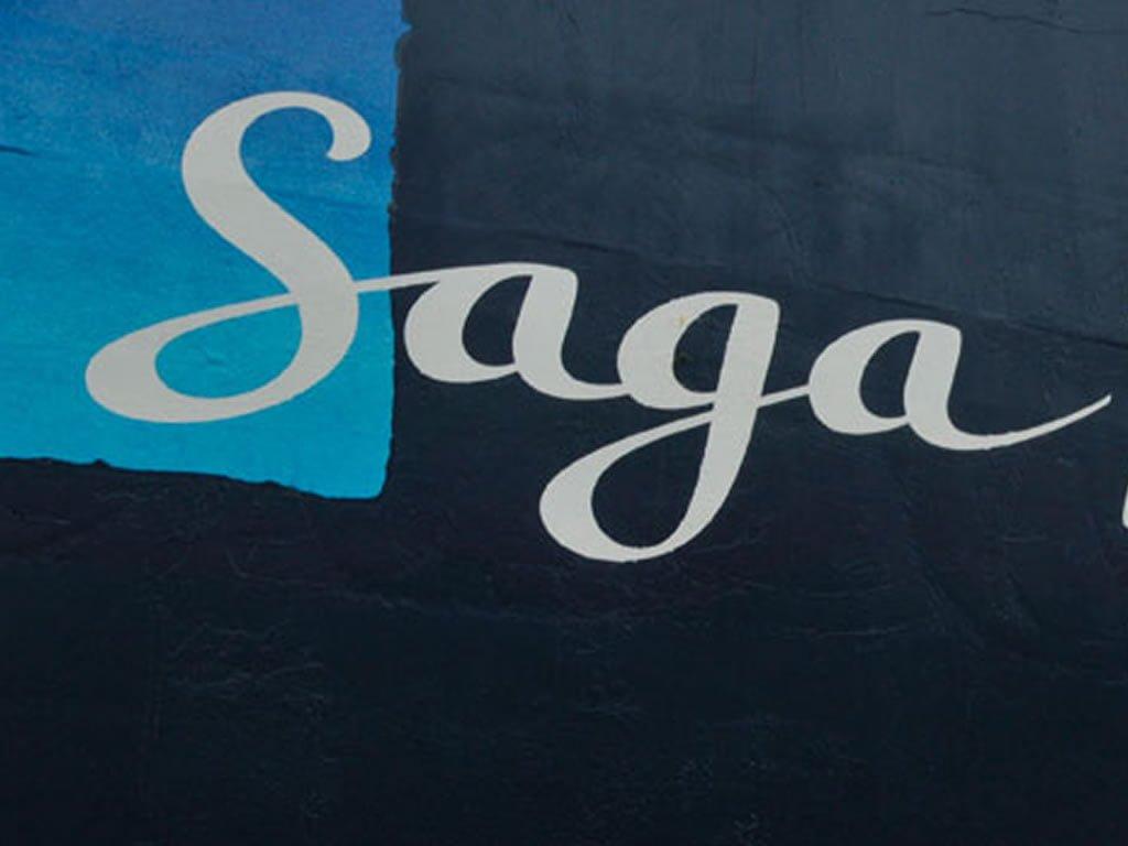 Logo on Saga Pearl II