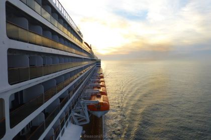 Looking along Queen Mary 2