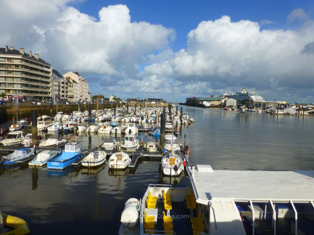 Marina in Cherbourg, France