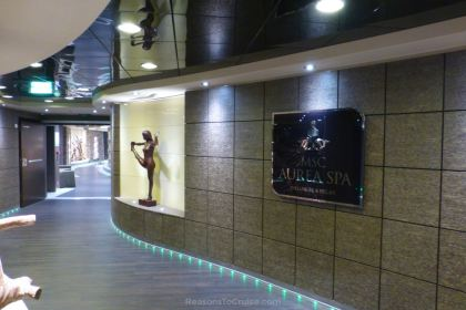 MSC Aurea Spa entrance