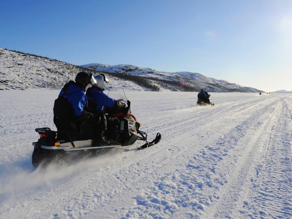 Snowmobiling in Norway with Hurtigruten