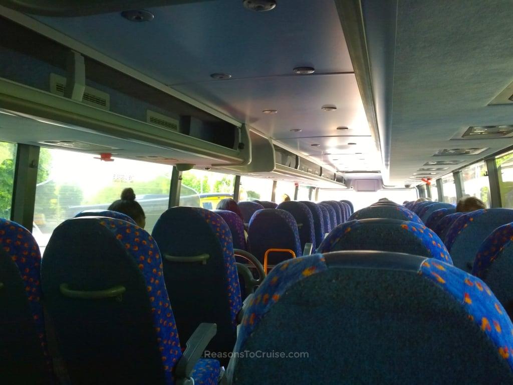 Inside a Megabus service to London