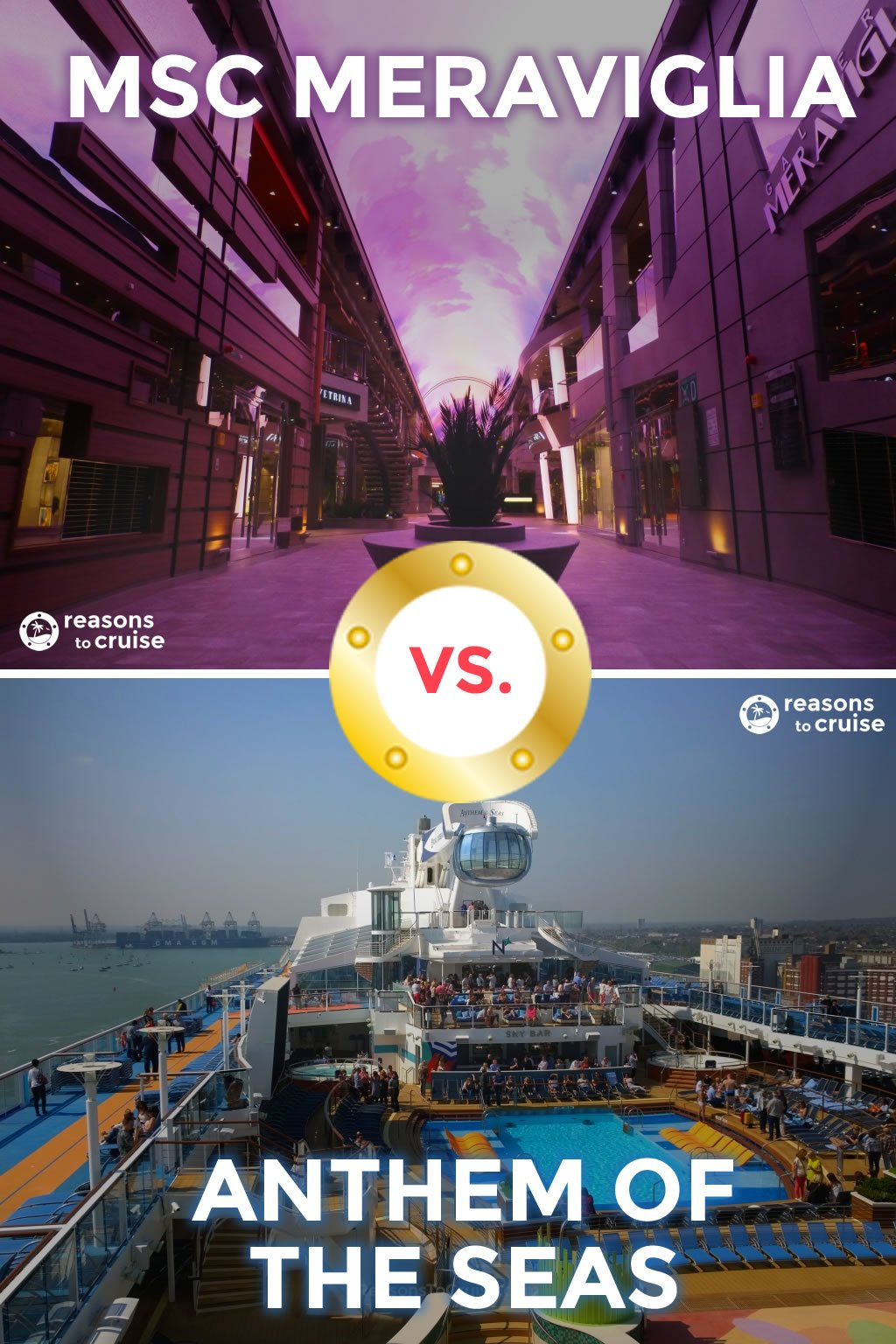 MSC Meraviglia versus Anthem of the Seas