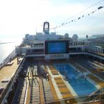 Pool deck on MSC Meraviglia