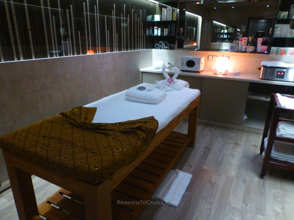 Massage room in the Aurea Spa
