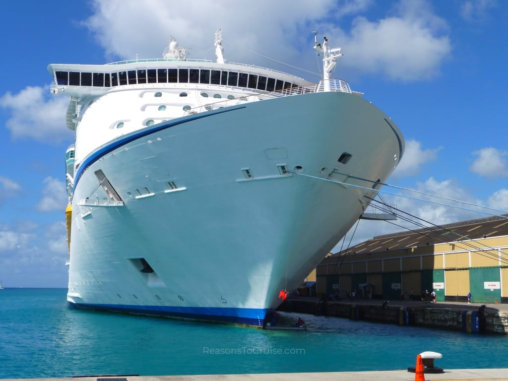 Bow of Explorer of the Seas