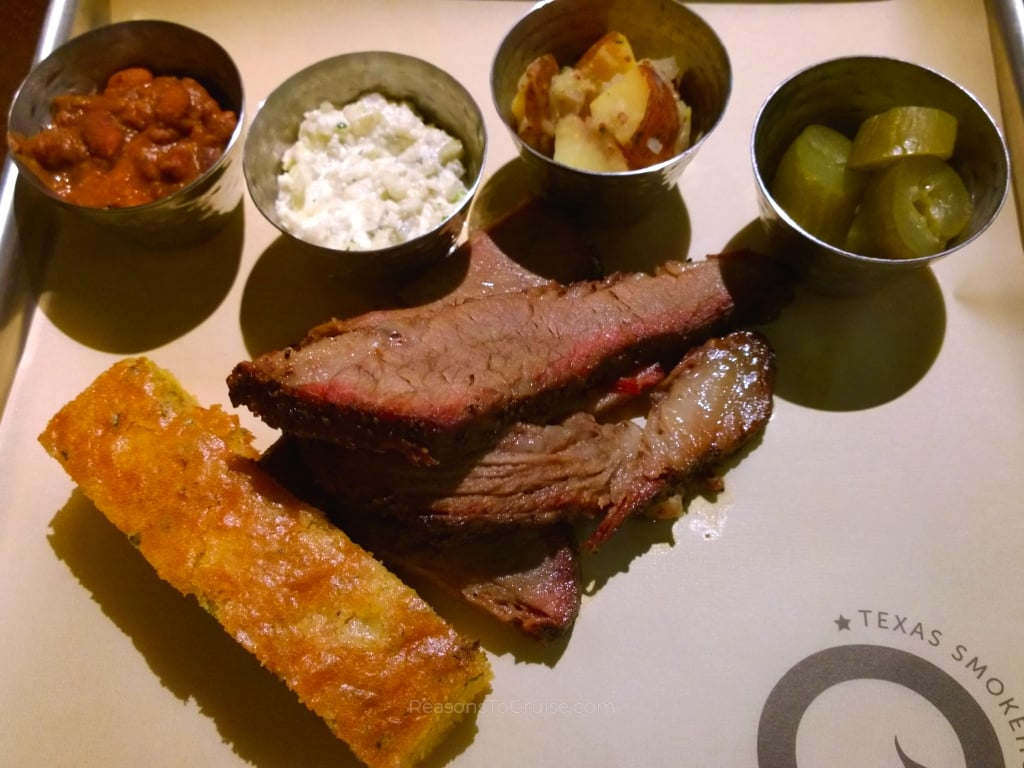 Beef brisket at Q Texas Smokehouse