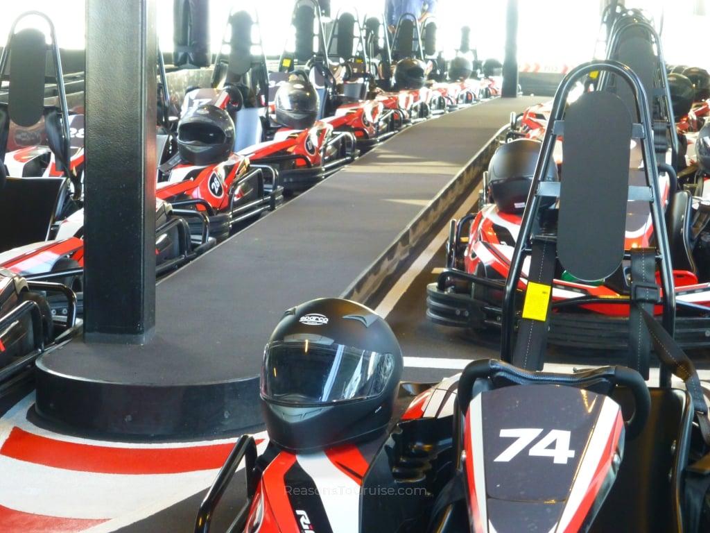 Go-karts on Norwegian Bliss