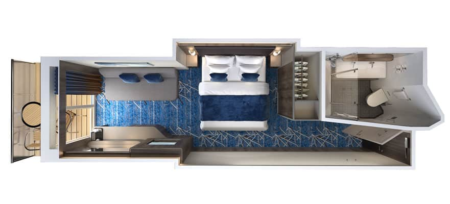 Norwegian Bliss Mini Suite Floor Plan