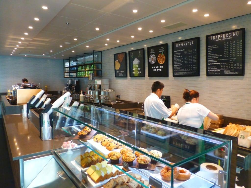 Starbucks on Norwegian Bliss