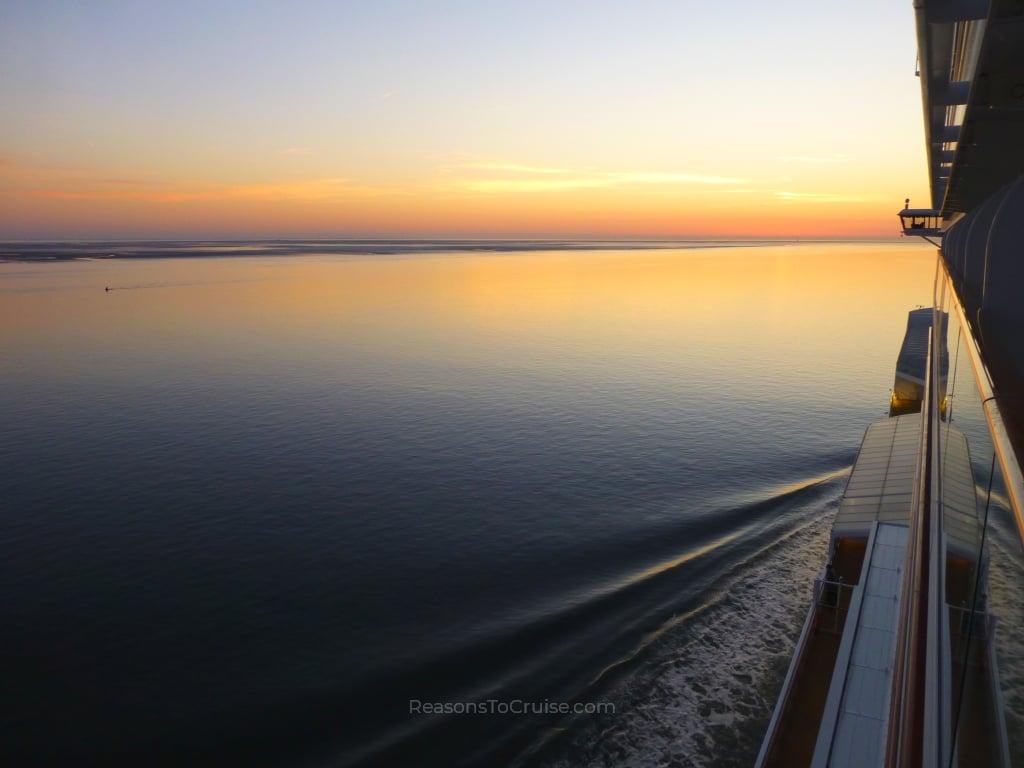 Sunset on Norwegian Bliss