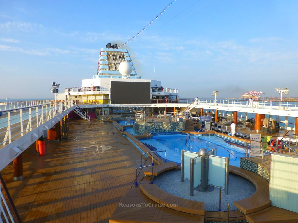 Pool deck on Marella Explorer